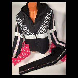 Vs pink bling anorak & Leggings set s
